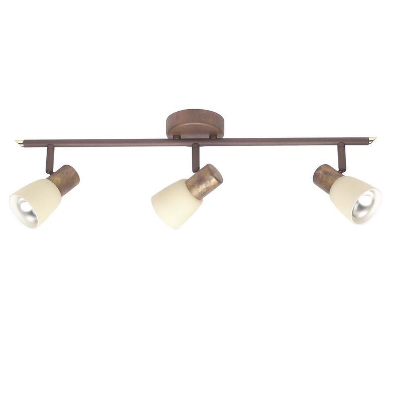 Bruine, koperen plafondlamp Loet