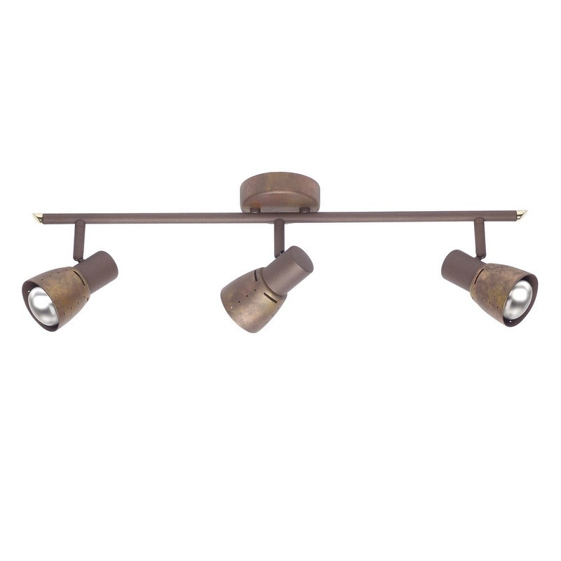 Bruine, koper kleurige Rieke plafondlamp