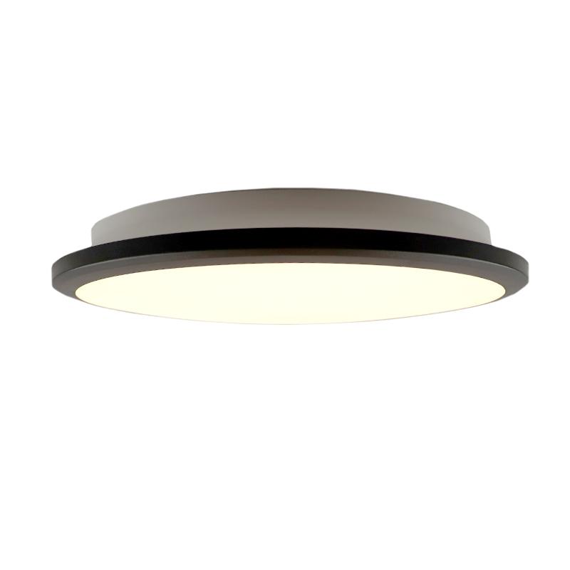 Moderne plafonniere Joachim, Mat zwart, groot, met integreert LED
