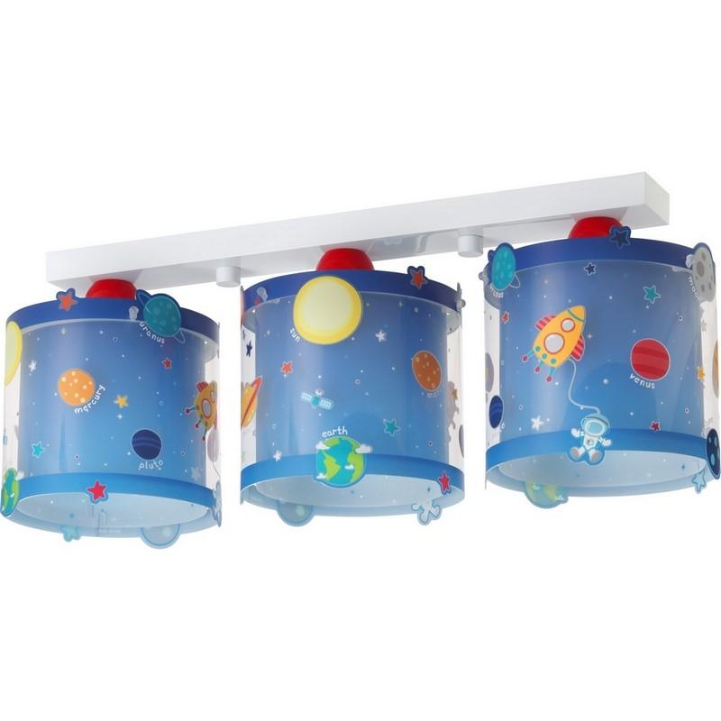 Plafondlamp planeten - Blauw