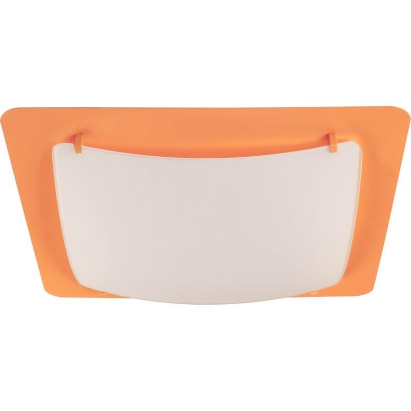 Oranje plafonniere kinderkamer - Vierkant