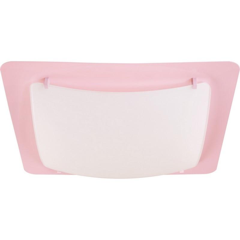 Roze plafonniere kinderkamer - Vierkant