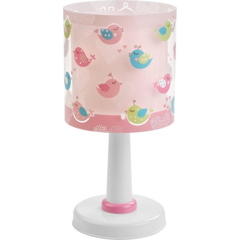 Roze vogel tafellamp meisjeskamer
