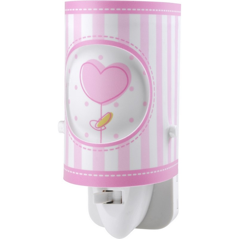 Roze babykamer stekker wandlamp bloemetjes