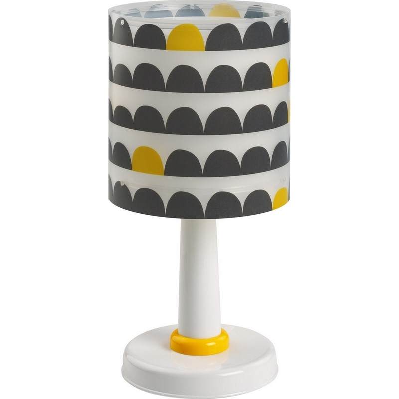 Kinderkamer tafellamp Wonderland - Geel Grijs