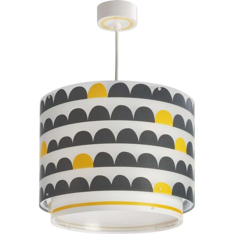 Kinderkamer hanglamp Wonderland - Geel Grijs