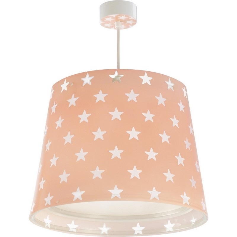Roze Sterren hanglamp babykamer meisjes