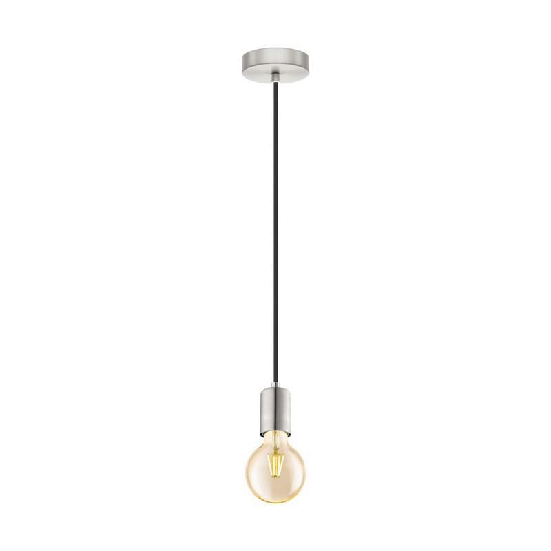 Stalen hanglamp Christel nikkel