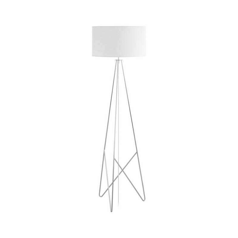 Stalen vloerlamp Viola chroom