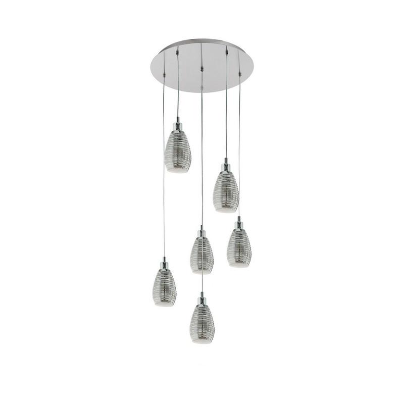 Stalen hanglamp Kik chroom