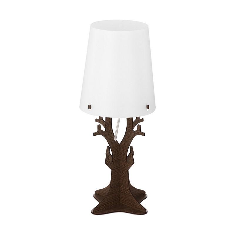 Houten tafellamp Jutta bruin