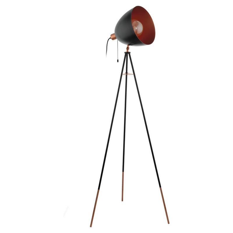 Abir vloerlamp - Zwart Koper