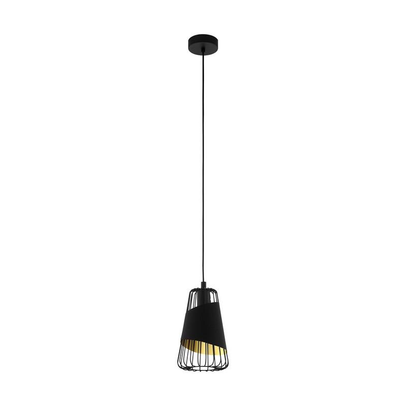 Stalen hanglamp Joost zwart