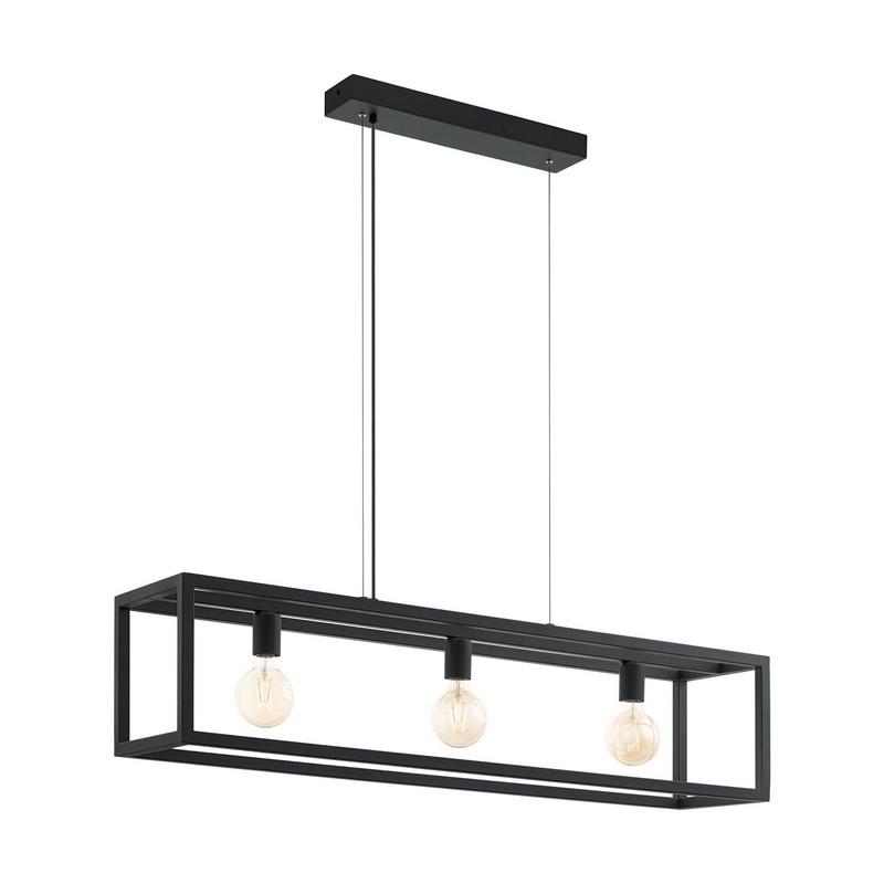 Moderne hanglamp Jaxx Staal Zwart