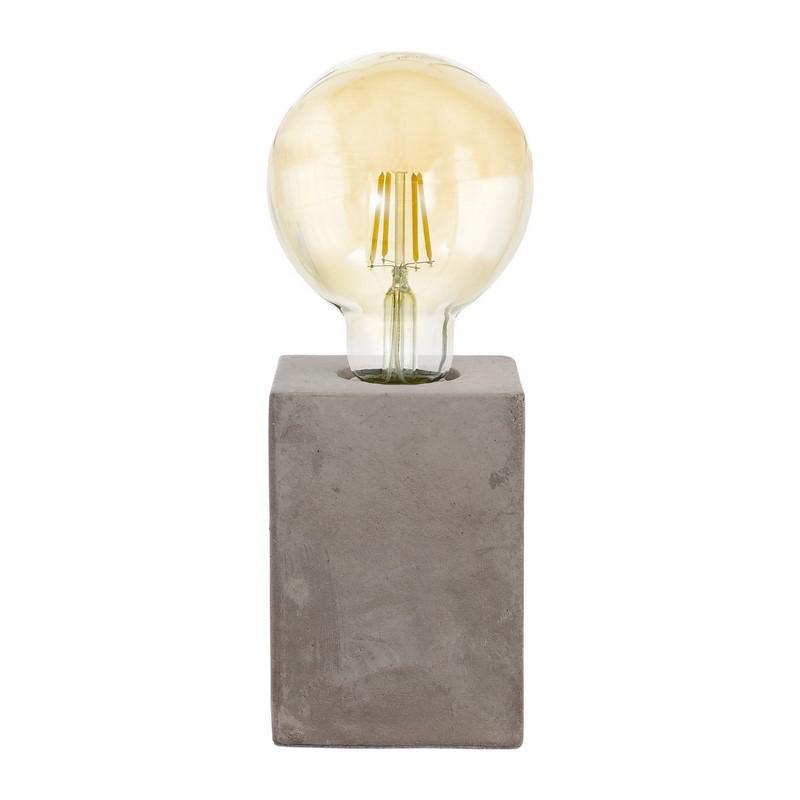 Industriele tafellamp Dylano Keramiek Grijs