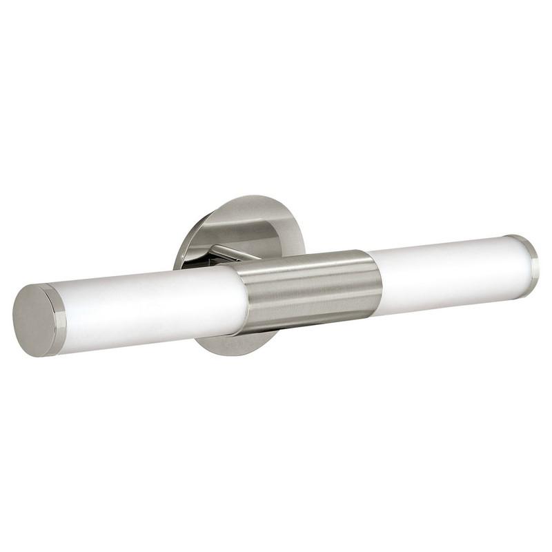 Matte chrome Euska badkamer wandlamp langwerpig
