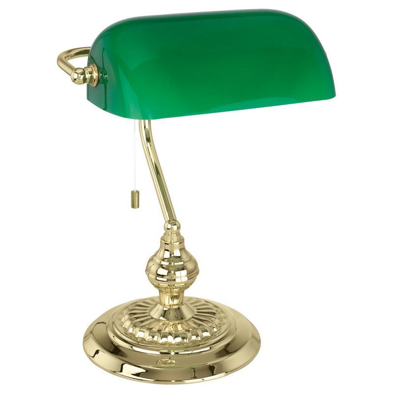 Groene tafellamp Lugco Bankierslamp