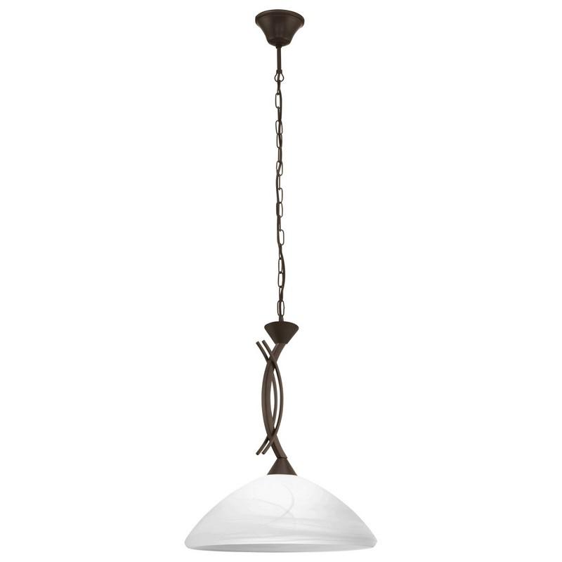 Landelijke glas hanglamp Bosena