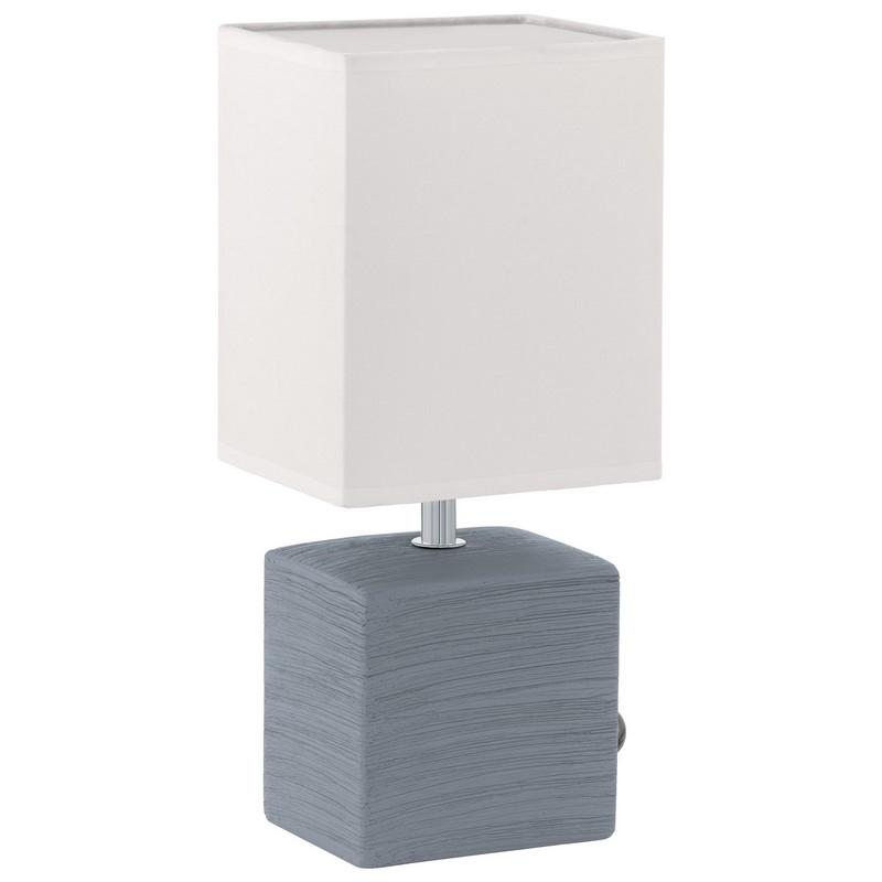 Mert tafellamp lampenvoet van keramiek grijs