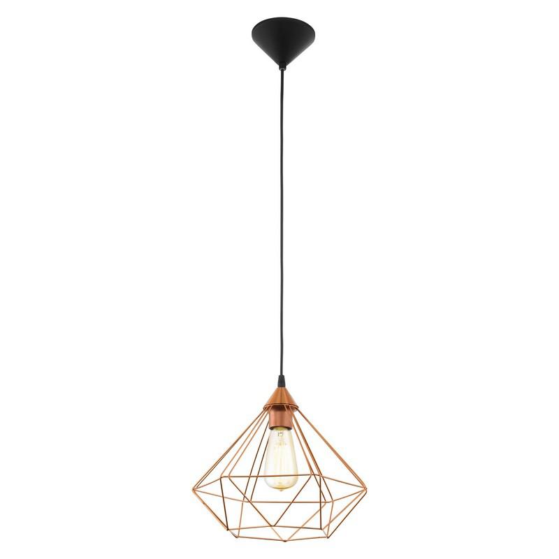 Hippe koperen hanglamp Costel