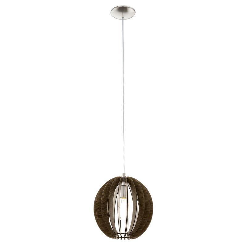 Houten hanglamp Bergama Donkerbruin