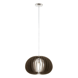 Donkerbruine houten hanglamp Bergama