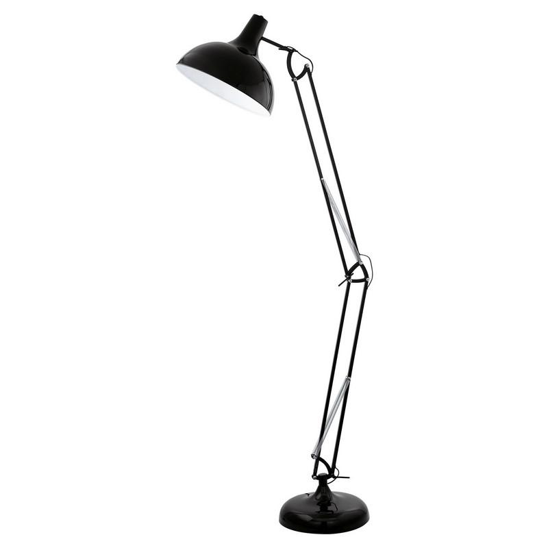 Industrieel Landelijke Retro Zwarte vloerlamp Josha