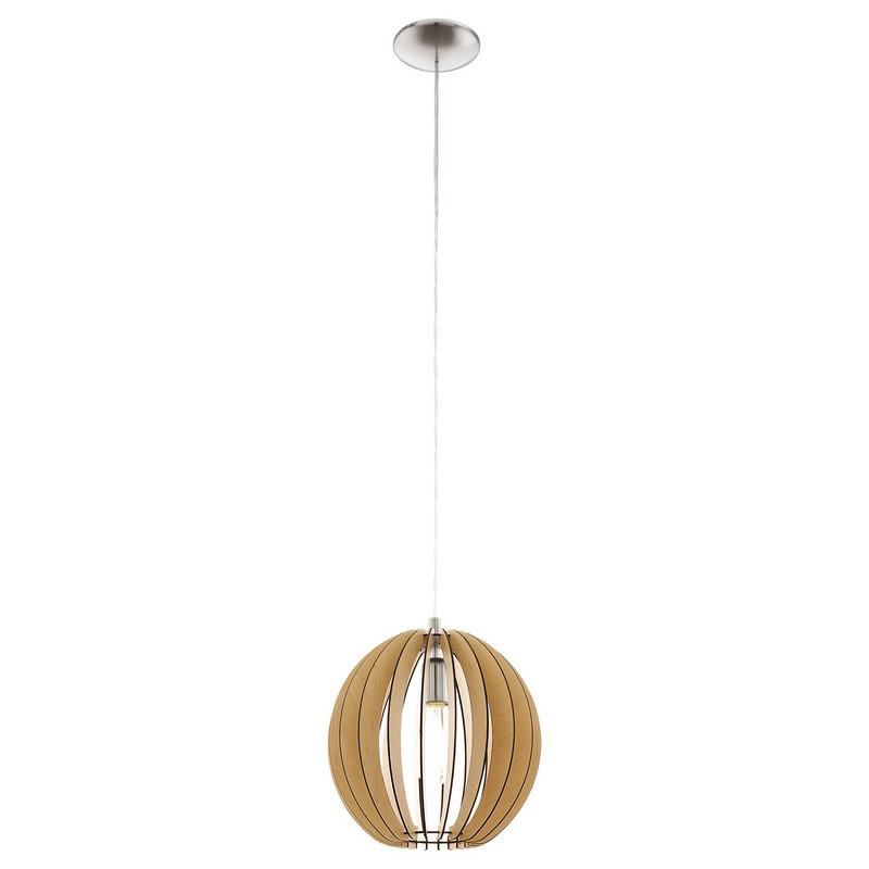Naturel houten hanglamp Bergama