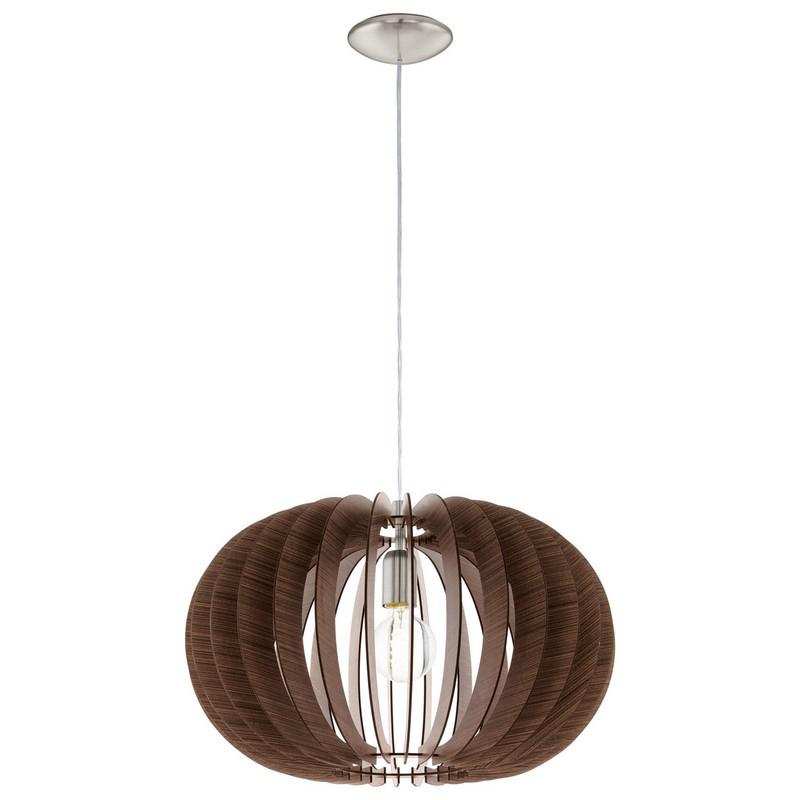 Stalen hanglamp Kiran nikkel