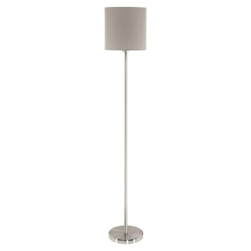 Angus vloerlamp - Nikkel-Mat