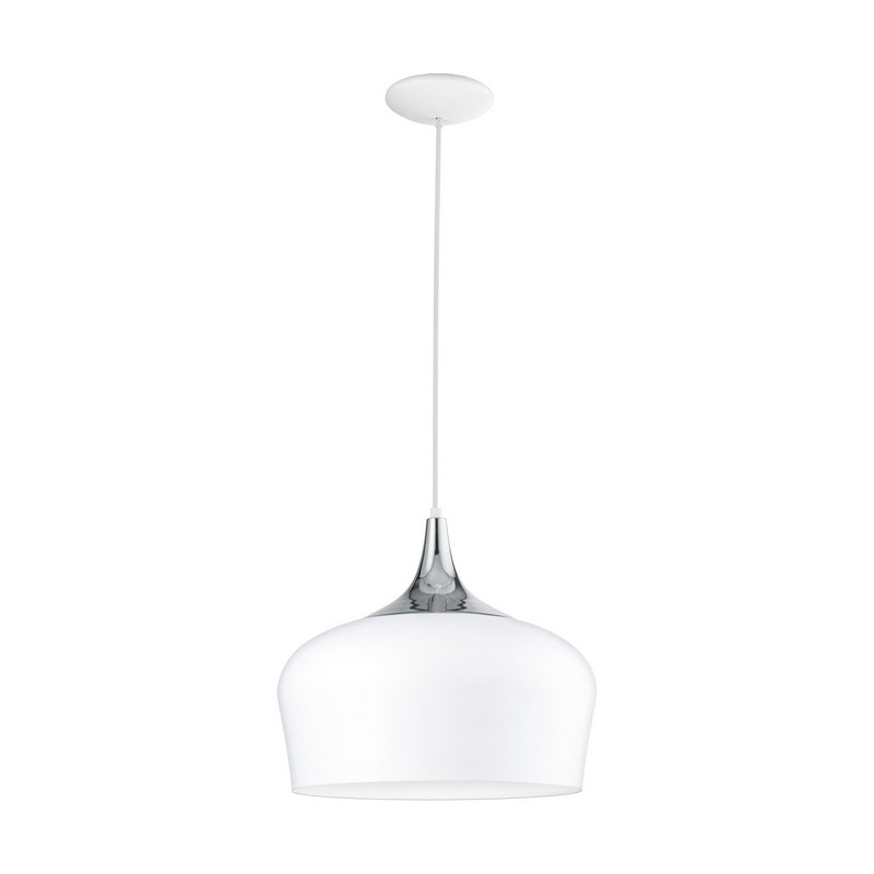 Annemarijn hanglamp - Wit Chroom