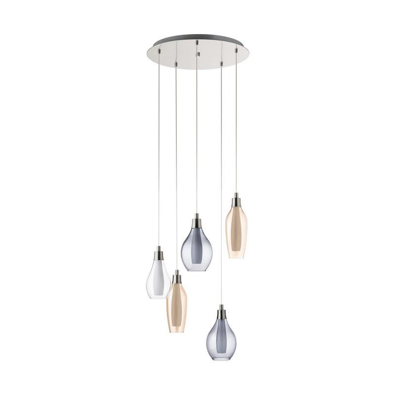 Annemoon hanglamp - Nikkel-Mat