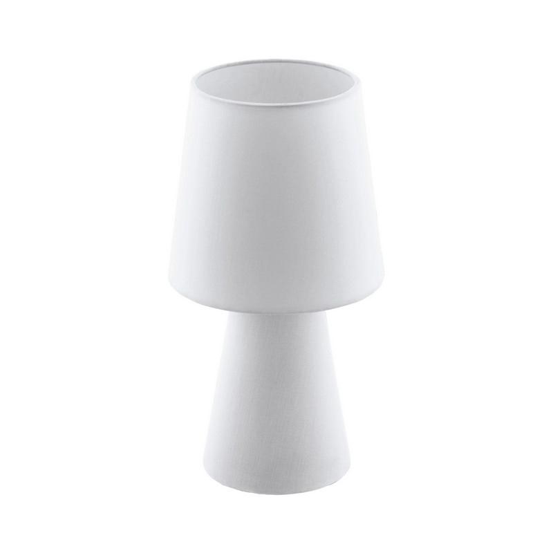 Stoffen tafellamp Mohammed wit