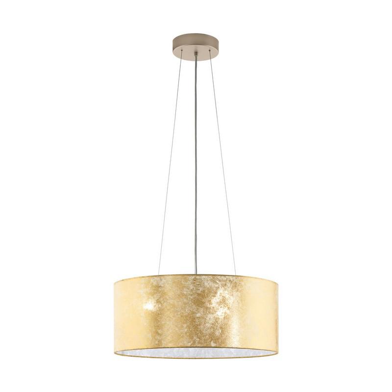 Stalen hanglamp Megan beige