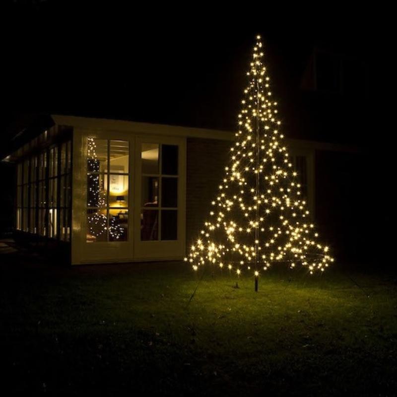 3M hoge vlaggenmast kerstboom, 360 lampjes, Inclusief mast!