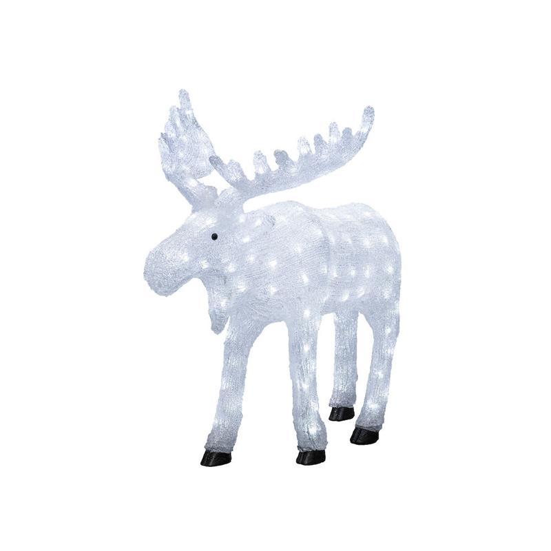 Kleine LED Eland kerstfiguur - 65cm