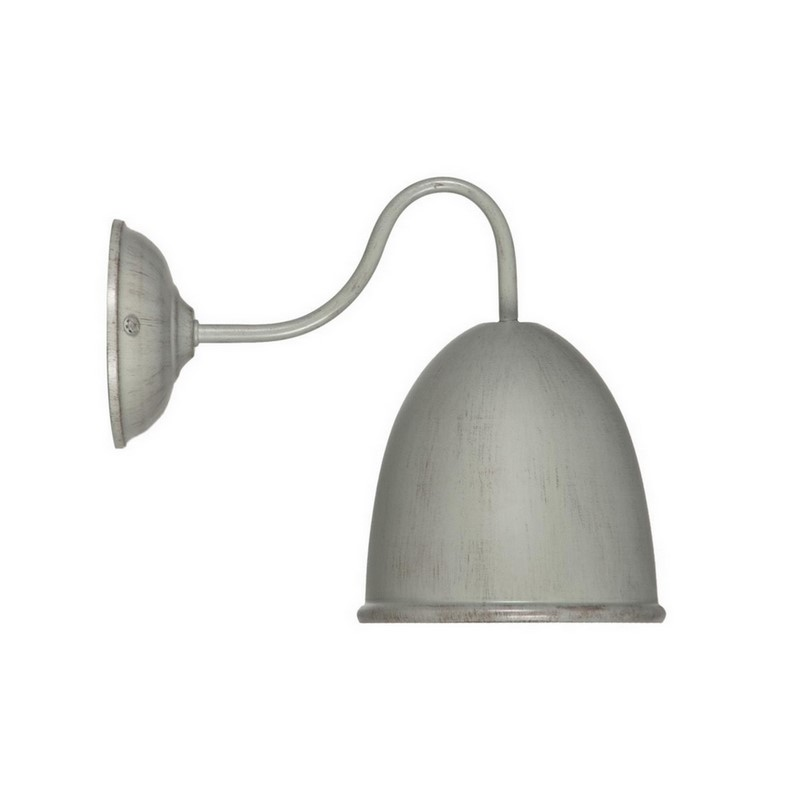 Landelijke Giano wandlamp, grijs/taupe