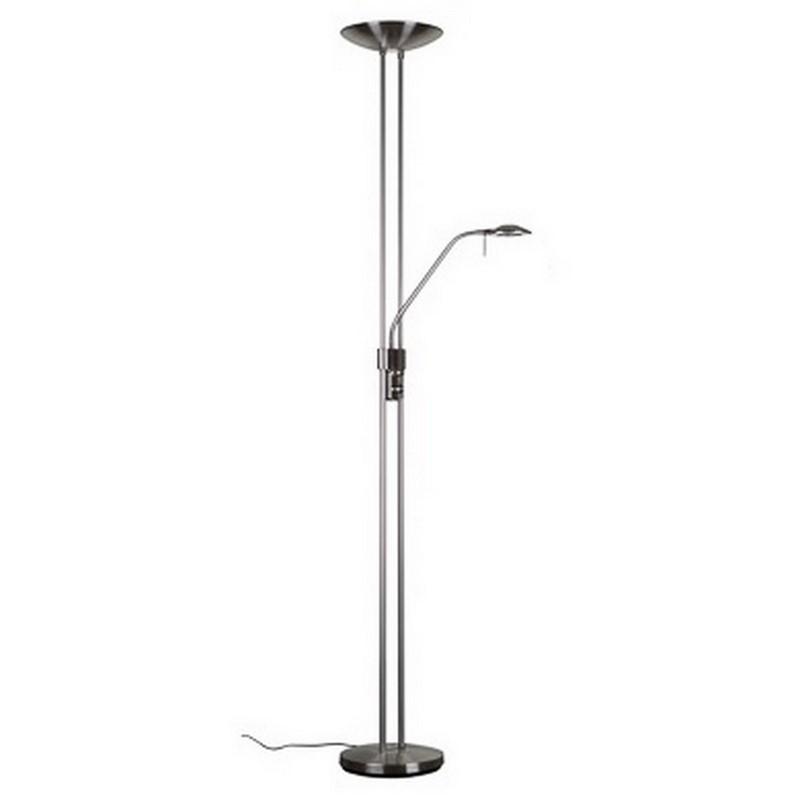Vloerlamp Agatha modern, nikkel