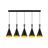 Moderne Ninte II hanglamp zwart/goud, metaal