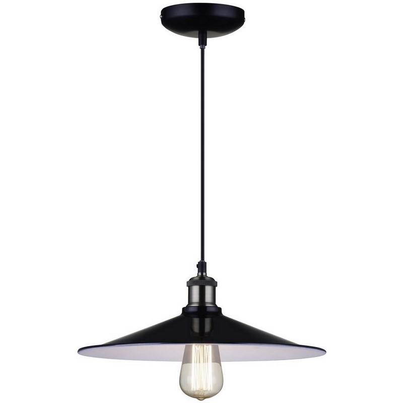 Industriële Odile hanglamp, zwart