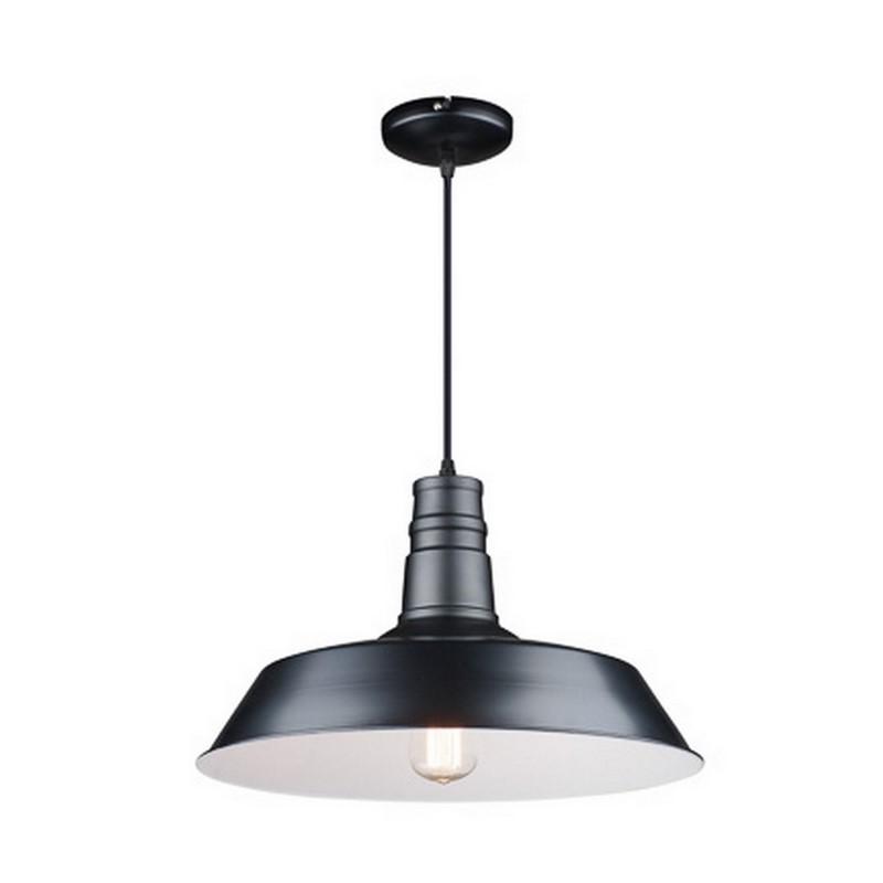 Moderne Raven hanglamp groot, zwart