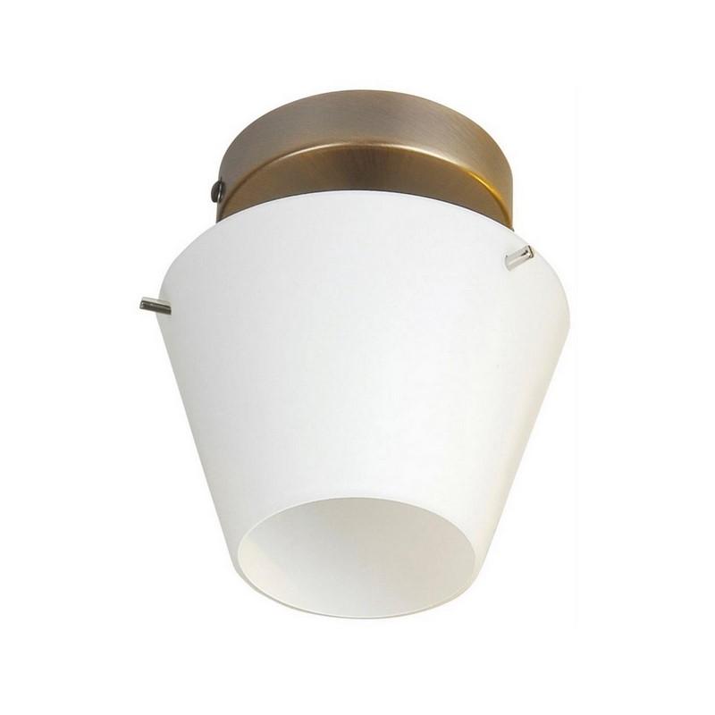 Yulia plafondlamp glas, brons