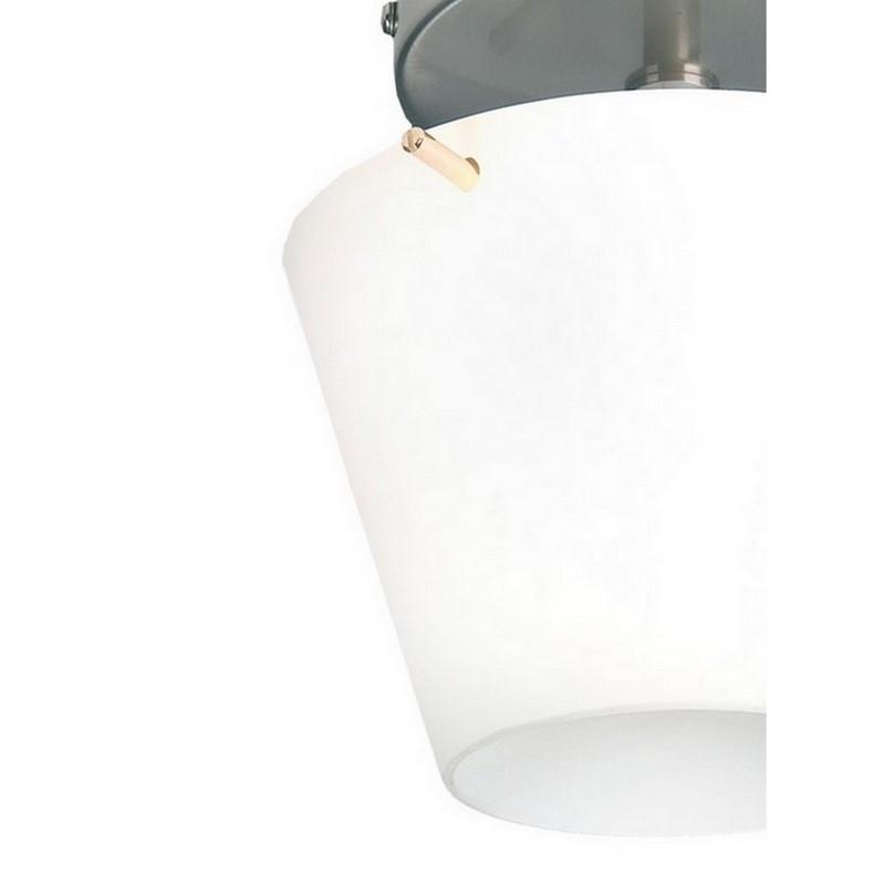 Plafondlamp Yulia nikkel, glas