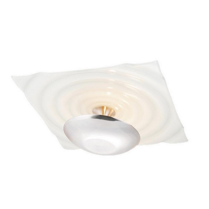 Vierkante plafondlamp Zelda wit, modern