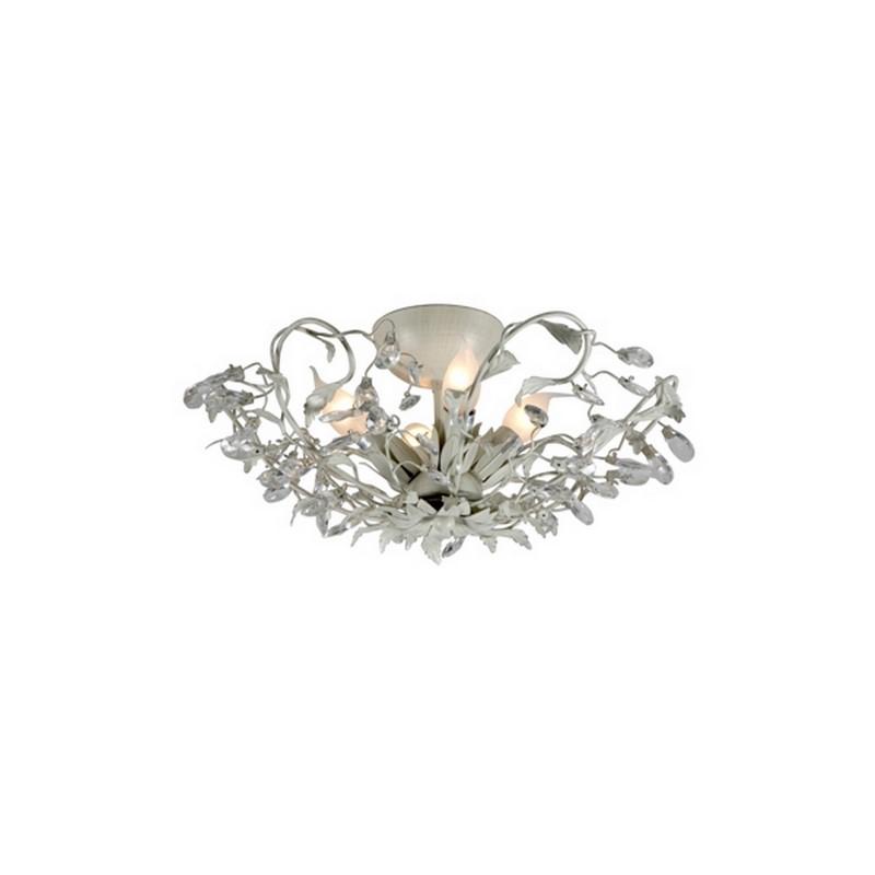 Klassieke plafondlamp Sidney I, grijs en beige