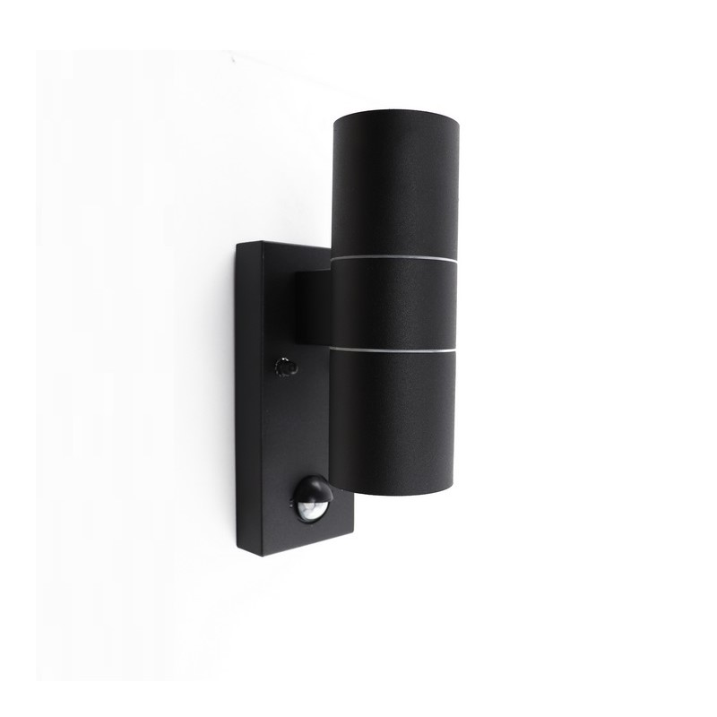 Achek buitenlamp - Zwart, Met bewegingsmelder