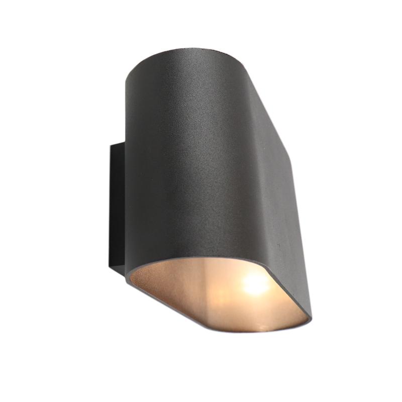 Moderne Rodigo wandlamp, zwart