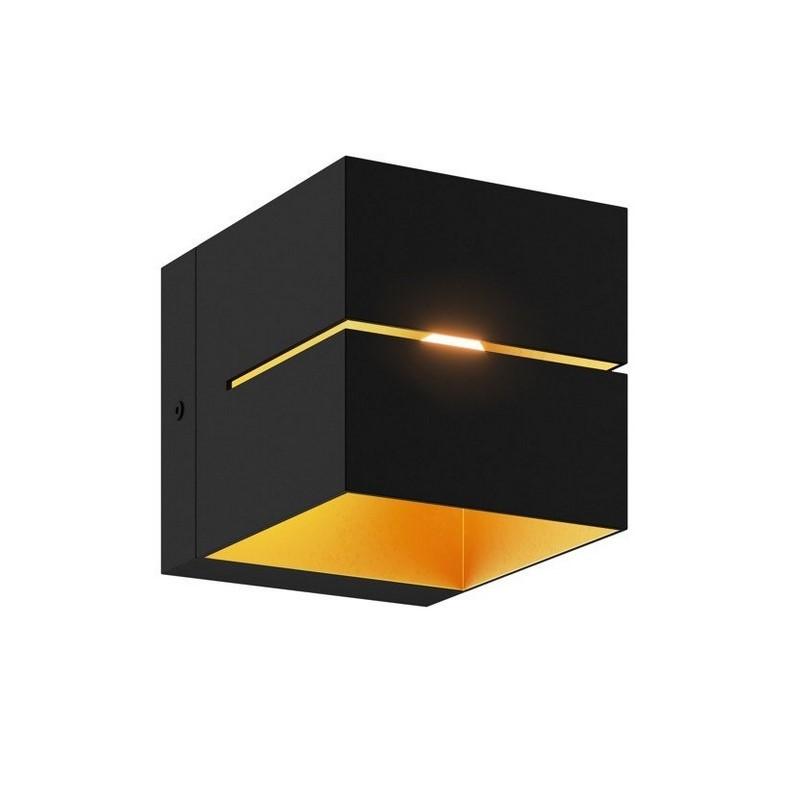 Moderne Wandlamp Gedser, Zwart, Goud