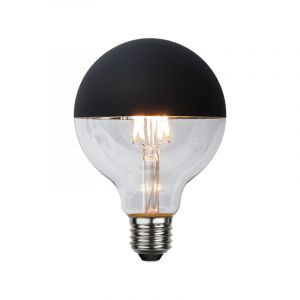 Dimbare G95 E27 kopspiegellamp, zwart, warm wit (2700k), 2,8w