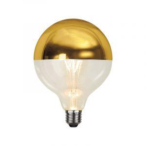 E27 gouden kopspiegel LED lamp Malik, 12,5CM doorsnede, 4 Watt, 2700K (Extra warm wit)